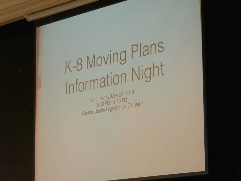 K-8 Moving Plans Information Night