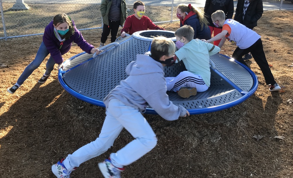 Students Enjoy New Playground