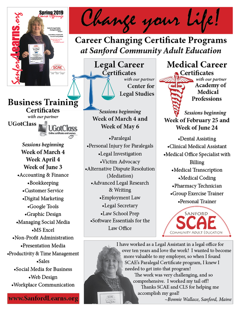 Career Changing Certificates from SCAE