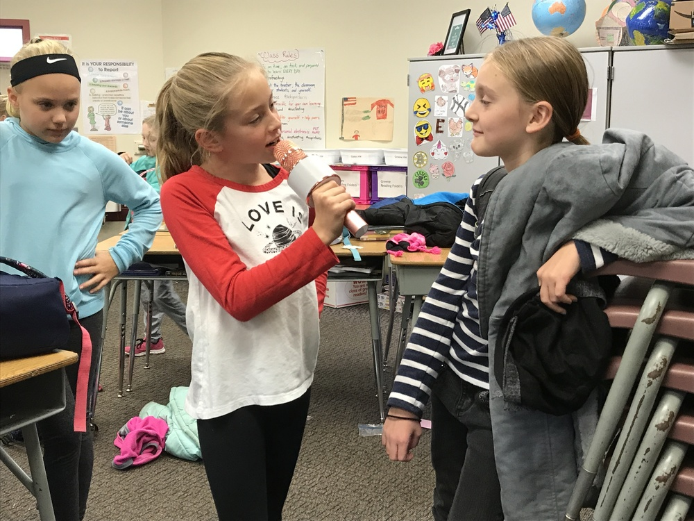 5th Graders Practice Public Speaking Skills