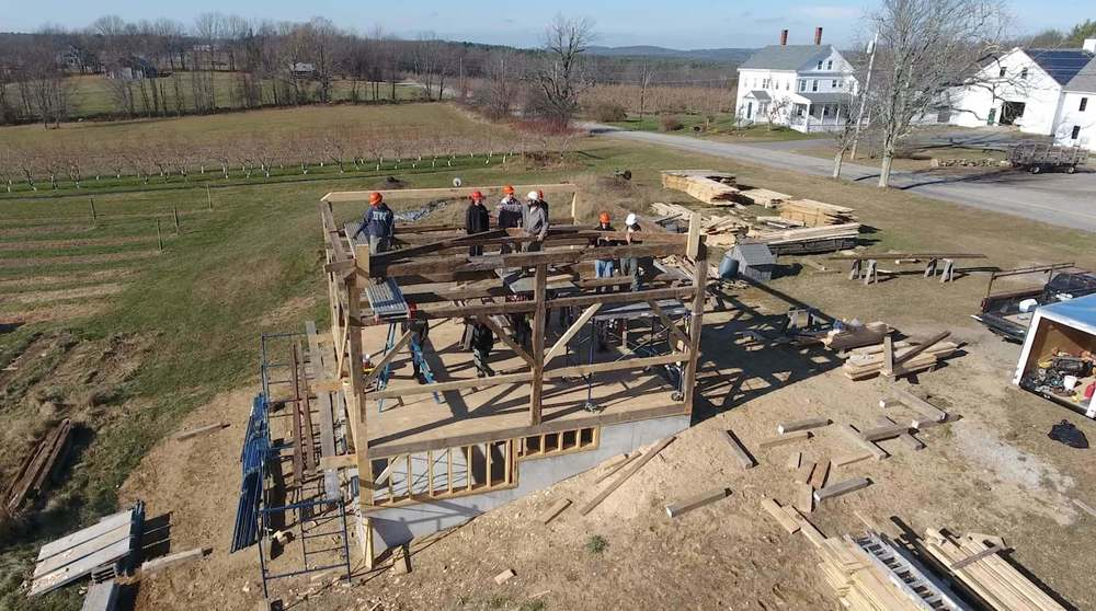 Building Trades Students Raise the Barn