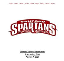DRAFT Sanford School Department Reopening Plan DRAFT