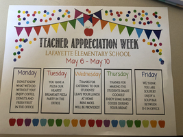 Teacher and Staff Appreciation Week!