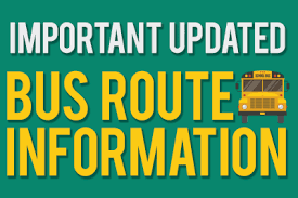 Bus Route Information Announced - Grades 5 - 12
