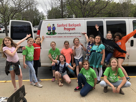 Girl on the run hosted a food drive to benefit the backpack program!