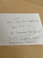 In person add/drop for SHS students offered this week!