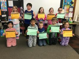 Students recognition for participating in Kindness Month