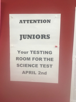 Junior MEA Science test April 2nd!