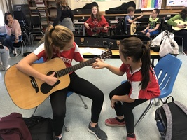 Guitar Lesson in Music Class