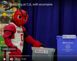 EcoMaine & Crusher from Red Claws Teach CJL About Recycling