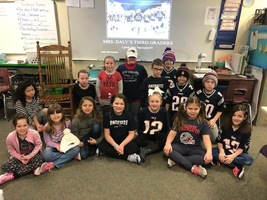 Mrs. Daly's 3rd Graders Love the Patriots