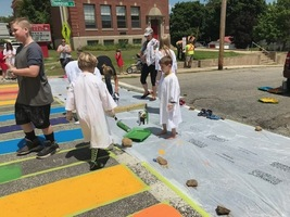 Cross walk painting