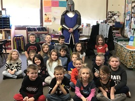A Knight's visit in Mrs. Plumpton's class