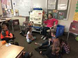 "Isabella Brackett Reads ""Miss Nelson is Missing"" to Mrs. Cousen's Class"