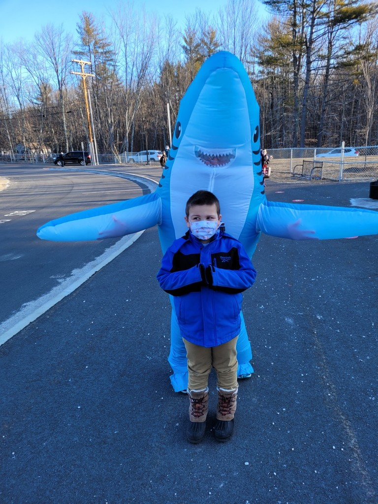 One of our students with the dancing shark.