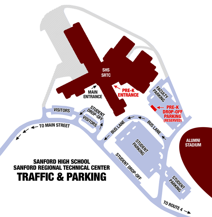 Parking and drop Off Map of SHS/SRTC