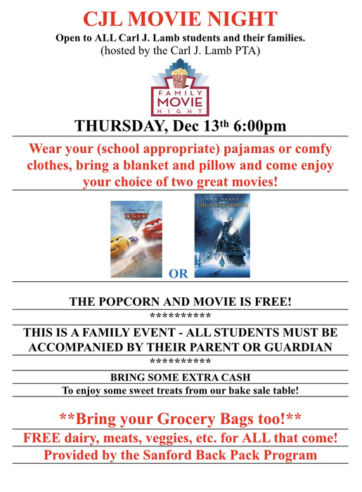 CJL Movie Night Flyer