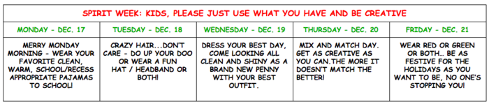 Spirit Week at CJL