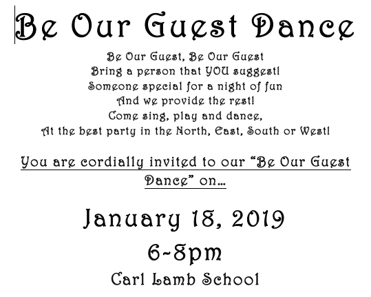 Be Our Guest Dance Invitation