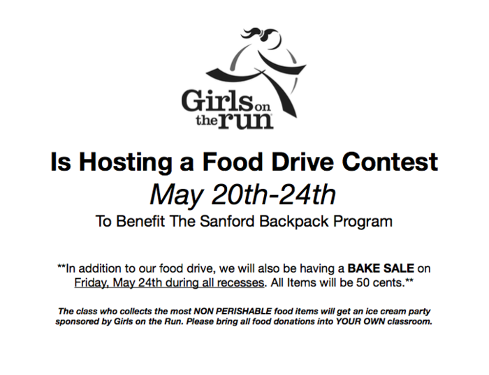 Girls on the Run Food Drive Contest