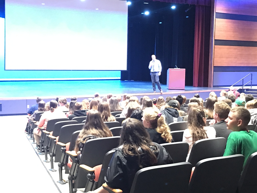 Mr. Tremblay welcoming Freshman
