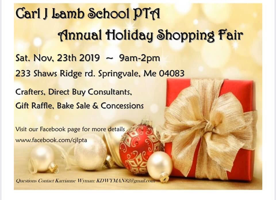 CJL PTA Annual Shopping Fair