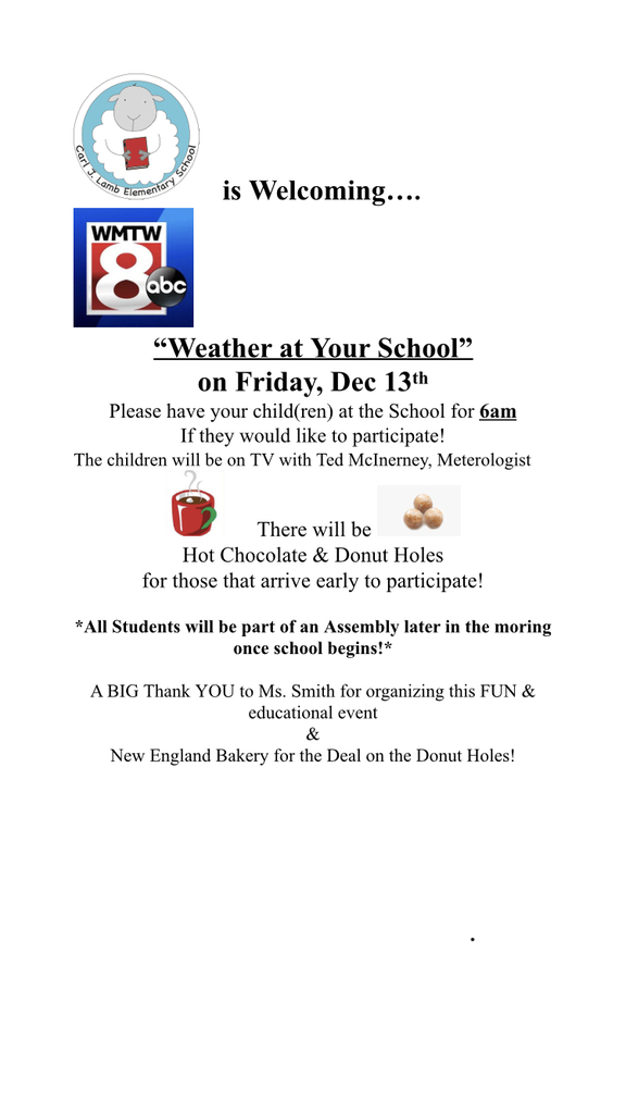 Flyer for Weather at Our School