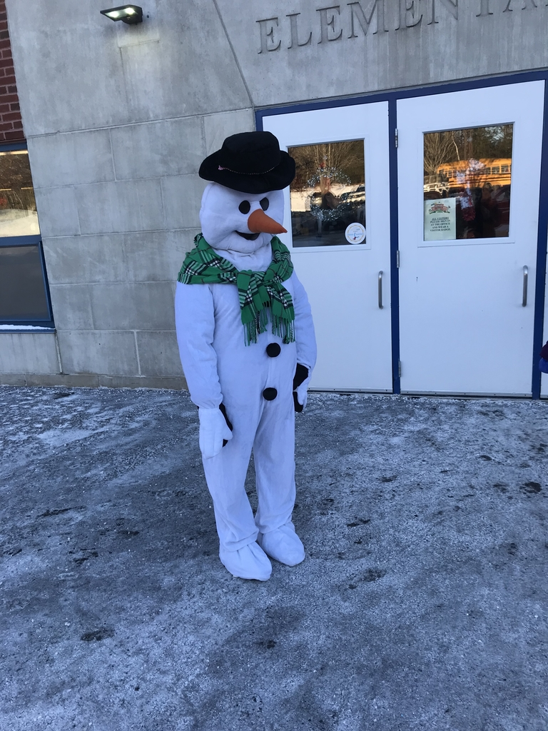 Frosty greeted CJL students this morning.