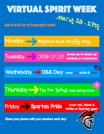 Flyer for Virtual Sprit Week