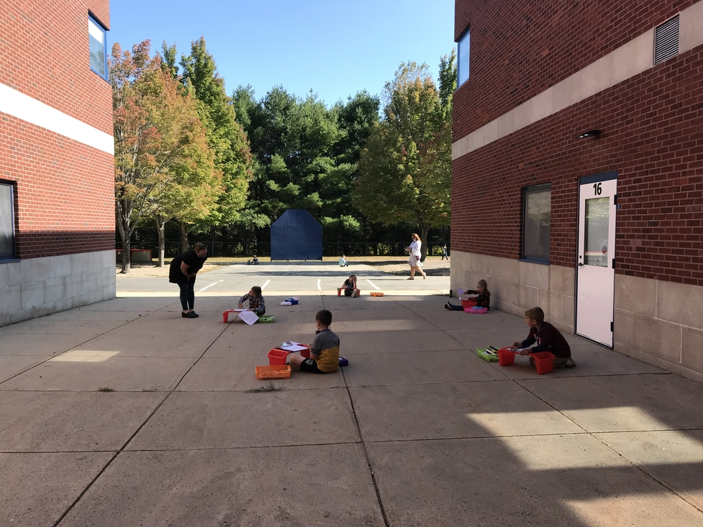 Outside learning with Mrs. Gillis
